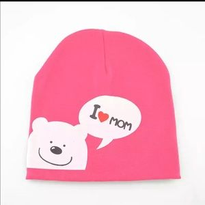 Other - Brand New Pink I Love Mom Baby Beanie